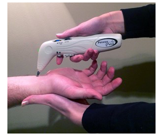 Pointer Pulse Wrist Exam